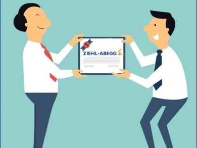 Recomendação para Certificação ISO 9001 da Ziehl-Abegg